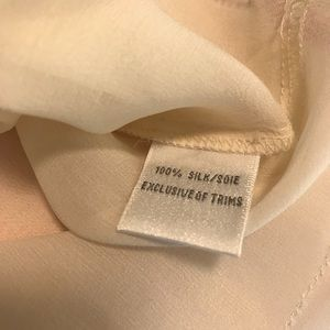 Cynthia Steffe Tops - Cynthia Steffe Blouse 100% Silk Cream Size 8